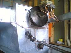 reduksjonsventil montert og fyllt bremsevæske.